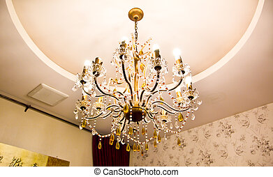 chandelier in vintage style