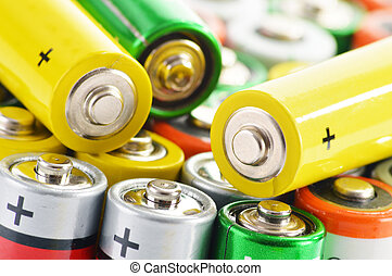 Composition with alkaline batteries Chemical waste -...