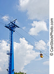 cable car - Cable Car System with blue sky
