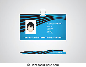 Identification card and pen with special design