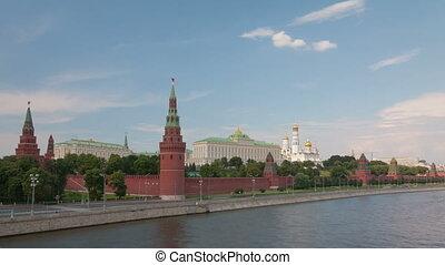 Walk along Kremlin wall hyperlapse - Moscow in Russia