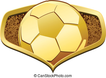 Gold Football or Soccer Shield