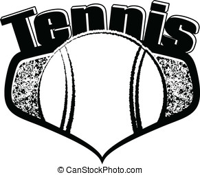 Tennis Shield with Text