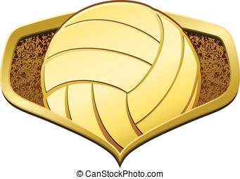 Gold Volleyball Shield