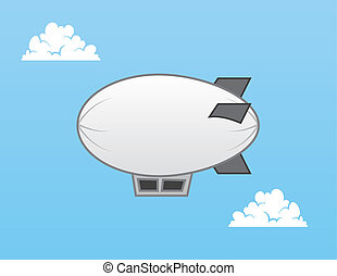 Airship Blimp - Airship blimp in the sky