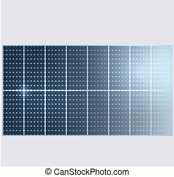 Reflection in vector solar panels.