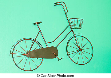 Bicycle made ??decorative murals.