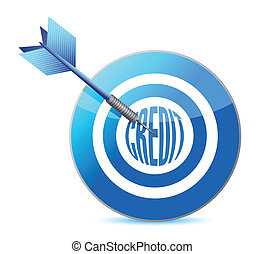 target credit concept illustrations design dart bullseye