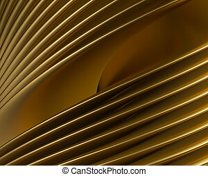 Creative brushed gold reflections