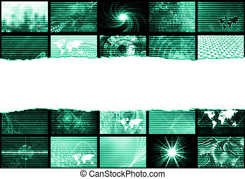 Trendy Backdrop Abstract - Trendy Digital Abstract With...