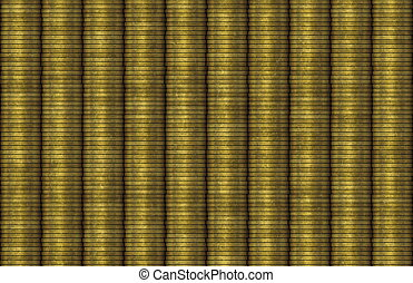 Stacked Coins Rows