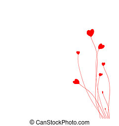 valentine day - postcard with inscription and red heart