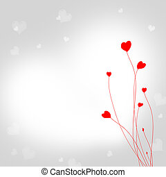 valentine day - postcard with red heart
