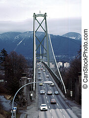 Lions Gate Bridge H-436 - Lions gate bridge at Vancouver BC...