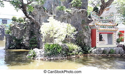 Natural garden in chinese temple