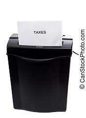 Lowering Taxes - Concept image of getting rid of taxes, or...