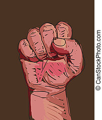 Clenched fist - Vector illustration of a clenched fist...