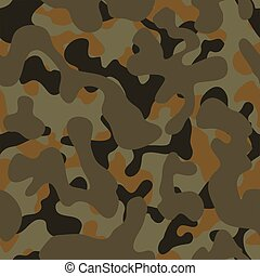 Camouflage - Seamless forest camouflage texture. Panels can...
