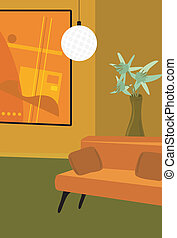 Modern Living Room - Illustration of a contemporary living...