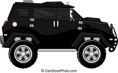 armored truck vector - armored truck for bodyguard, isolated...