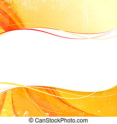 Cover with orange smoke on yellow background. Vector...