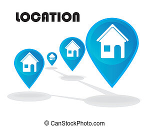 location design over white background vector illustration