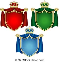 Coat of Arms Banners - colored illustration