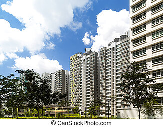 New Estate - A new estate with neighborhood facities carpark...