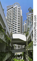 New Residential Estate - Low angle shot of a residential...