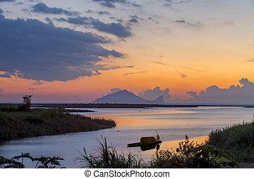 Beautful sunrise with nice beach