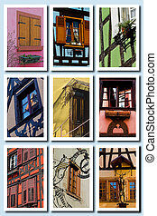 The Colours of Alsace, France - Composite of multiple...