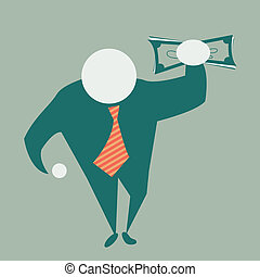 money - A vector image in naif style, representative of the...