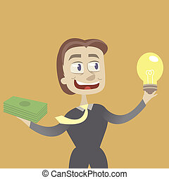 idea and money - it is a brilliant idea. the businessman...
