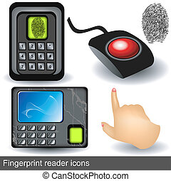 fingerprint reader icons