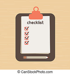 Checklist - The list put which it is necessary to execute...