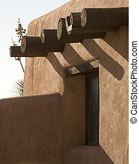 Adobe House - Southwestern USA abode style house