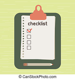 Checklist - The list put which it is necessary to execute....