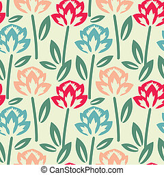 Floral pattern - Multicolored floral pattern