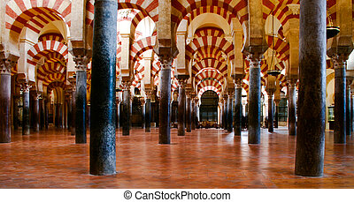 Arches of the Mezquita - The arches of the Mezquita,...