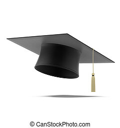 Grad hat isolated on a white background