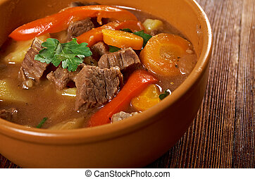 Irish stew with tender lamb meat - Irish stew farm-style...
