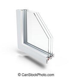 プラスチック, 窓, プロフィール