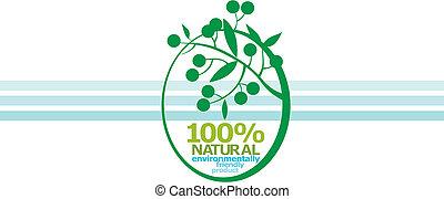 100% NATURAL. label