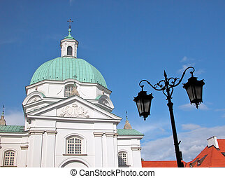 Warsaw Old Town - St. Casimir Church at New Town Market...