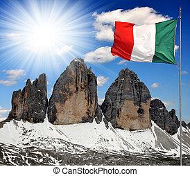 Tre cime di Lavaredo, Italy - Tre cime di Lavaredo with...