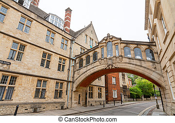 Bridge of Sighs. Oxford, England - The Bridge of Sighs...