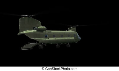 CH-47 landing and  lift off
