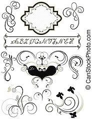Frames and calligraphic ornaments