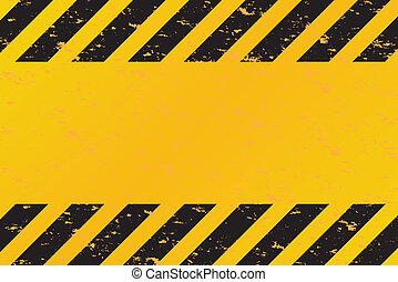 Hazard Stripes Vector - A grungy and worn hazard stripes...
