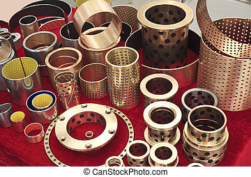 Arrangement of copper machine accessories collection